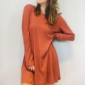 Altar'd State rust orange lace up back dress